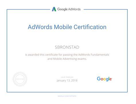 Adwords Certification - seo sem bronstaddesign