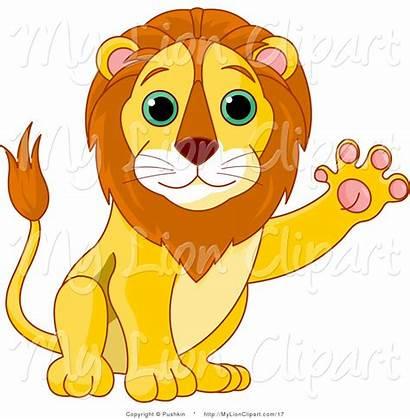 Lion Clipart Clip Waving Vector Sitting Lions