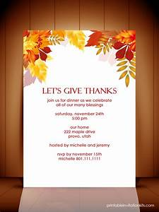 Thanksgiving dinner autumn invitation template wedding invitation templates printable for Thanksgiving invite template