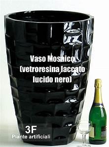 - Vaso Mosaico Laccato Lucido Nero