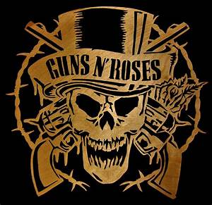 Guns N' Roses - Scrolled Digital Art by Michael Bergman