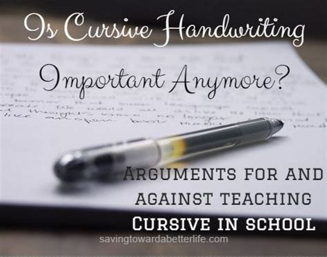 Is Cursive Handwriting Important Anymore?  Saving Toward A Better Life  Saving Toward A Better