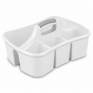Shop Sterilite Corporation White Plastic Bathtub Caddy at