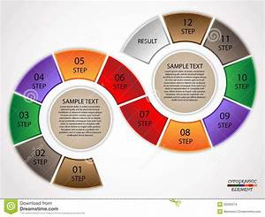 Infographics Circle Steps Stock Images