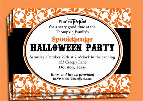 halloween office party invitation wording festival