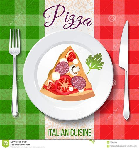 cuisine traditionnelle italienne cuisine italienne traditionnelle illustration de vecteur