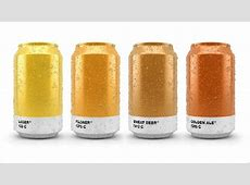 Awesome Beer Cans Show the Pantone Color of the Brew That