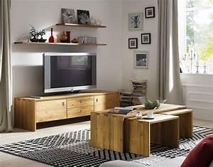 Wohnzimmer Mbel Set 4teilig Wildeiche Massiv Holz