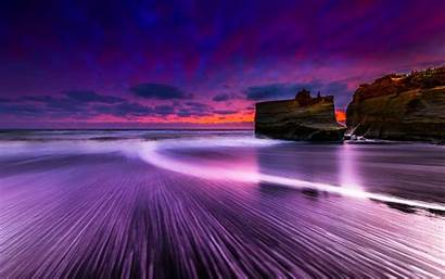 Sunset Purple Beach Wallpapersin4k