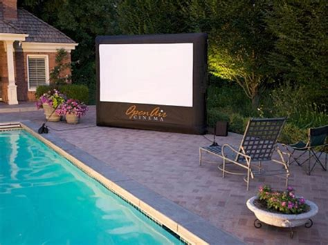 Backyard Home Theater by Cinebox Home Backyard Theater System Tfot