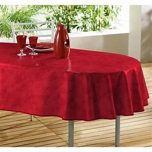 Nappe Transparente épaisse 5 Mm : nappe toile cir e ovale 240x140 beton cire rouge achat ~ Dailycaller-alerts.com Idées de Décoration
