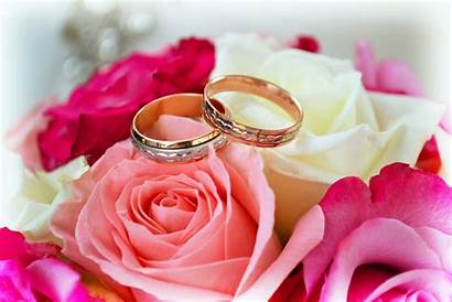 Rings Roses Flower Wallpapers Marriage Ring Flowers