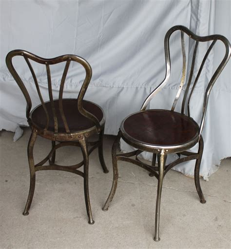 Bargain John's Antiques   Set of 4 Ice Cream Parlor Chairs