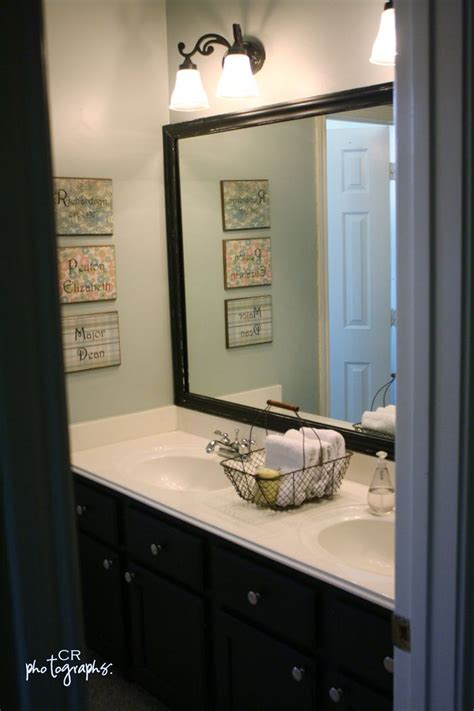 Framing Existing Bathroom Mirrors by I Never Thought About Framing The Existing Bland Mirror In