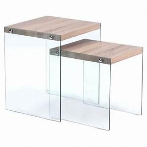 Table Basse Chene Clair : table basse gigogne chic ch ne clair pas cher scandinave deco ~ Teatrodelosmanantiales.com Idées de Décoration