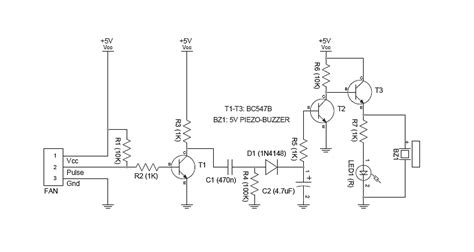 Wire Cooling Fan Monitor Circuit