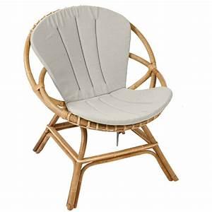 Coussin pour fauteuil rotin rond a d39interieur inspire du for Fauteuil rotin rond