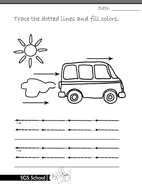 tracing lines printable worksheets shamim grammar school