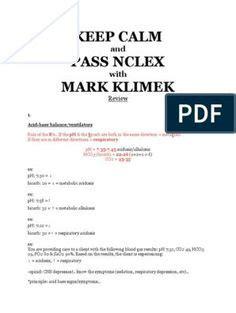 mark klimek blue book  nclex study guide flashcards
