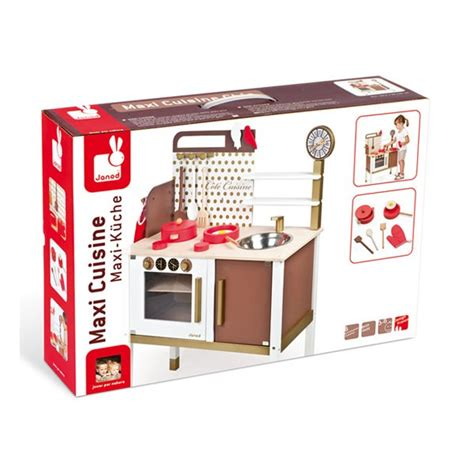 cuisine en bois jouet janod maxi cuisine chic janod la fée du jouet achat vente de