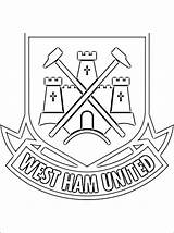 Ham West United Coloring Football Colouring Manchester Club Everton Printable Soccer Fc Utd 1coloring Logos English Crest Sheets Escudo League sketch template