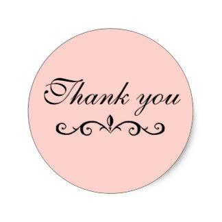 Thank You Stickers Zazzle