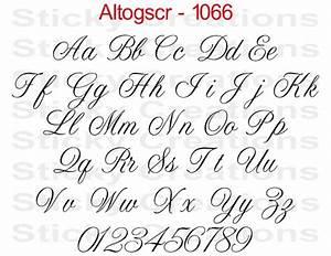 1066 custom text script lettering sticker vinyl name With vinyl calligraphy letters