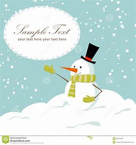 Cute Cartoon Snowman Smiling Stock Vector - Image: 22301186