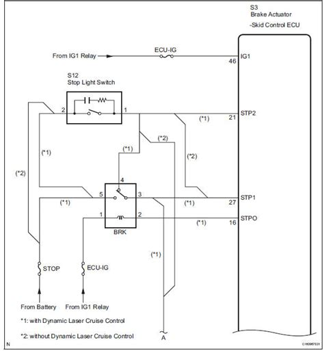 Toyota Sienna Service Manual Open Stop Light Switch