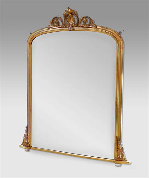 L For Mirror by Antique Gilt Overmantel Mirror Antique Wall Mirror