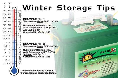 winter storage  maintenance tips  flooded lead acid