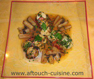 aftouch cuisine coquilles st jacques et salsifis recette aftouch cuisine