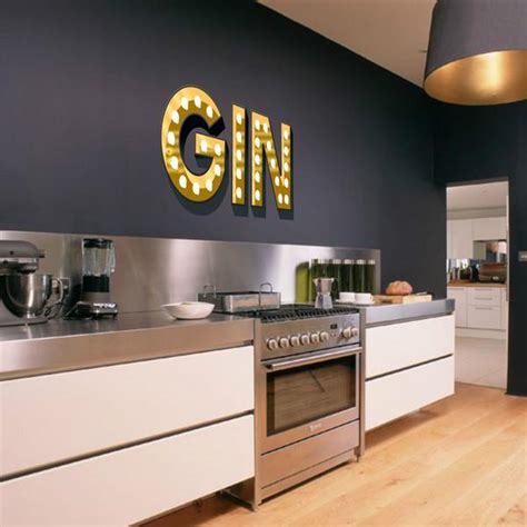 gin illuminated light up effect letters wall stickers