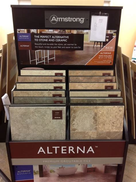 armstrong flooring displays alterna by armstrong is one of the best luxury vinyl tiles on the market picture taken at