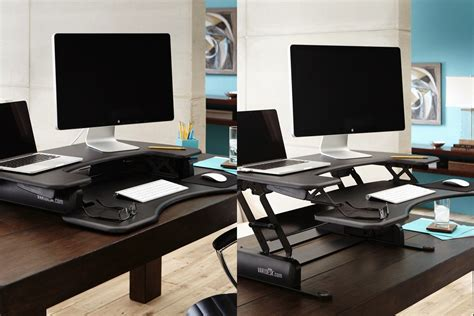 stand up desk converter standing desk converter two monitors versadesk power pro