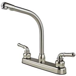 rv kitchen faucet rv mobile home high rise kitchen sink faucet travel trailer stainless finish ebay