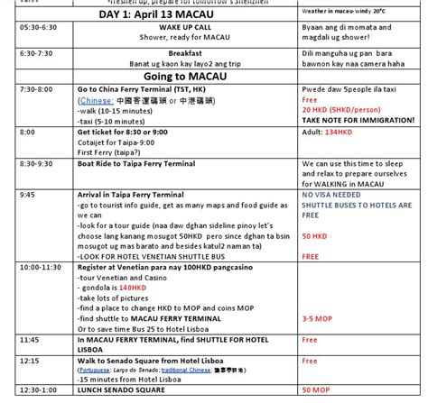 Travel Itinerary Template Personal Travel Itinerary Template Search The