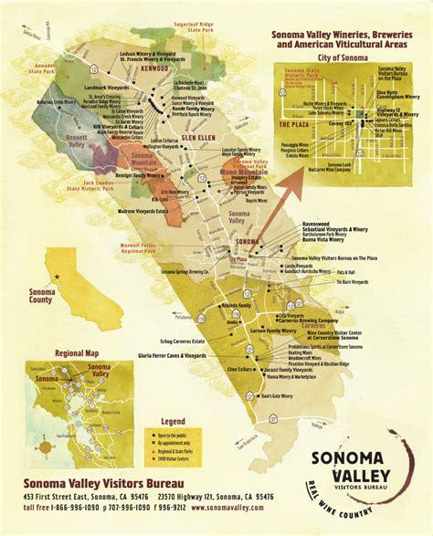 sonoma valley wine map   sonoma