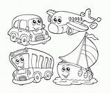 Coloring Transportation Air Vehicle Pages Popular sketch template