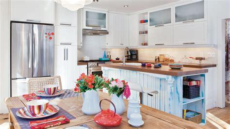 cuisine bleue et blanche cuisine blanc et bleu les idées de ma maison