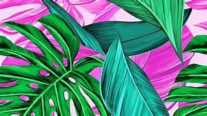 wallpaper 3840x2160 leaves pattern bright