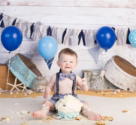 Cake Smash, Boy Cake Smash, Nautical Cake Smash, Seaside