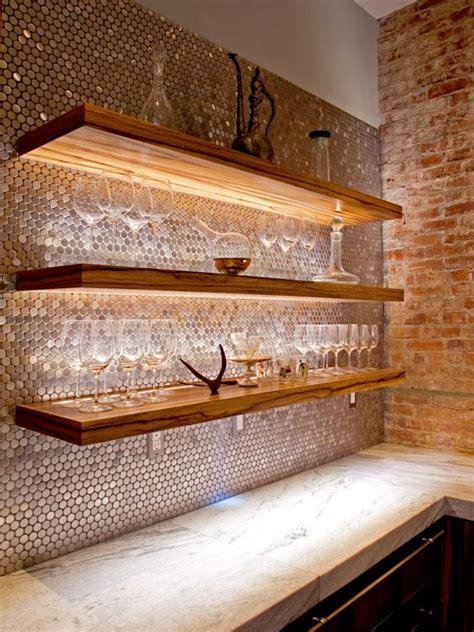 trendy  chic copper kitchen backsplashes digsdigs