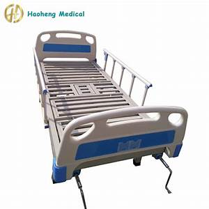 Stainless Steel 2 Crank Manual Abs Double Hospital Bed