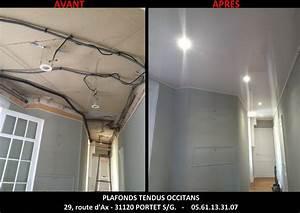 Installer Faux Plafond : comment installer des spots dans un faux plafond tendu barrisol auch pose de faux plafonds ~ Melissatoandfro.com Idées de Décoration