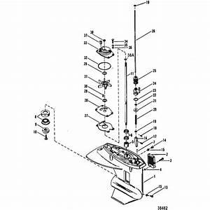 Genuine Mercury  U0026 Mercruiser Parts  Gear Housing Driveshaft