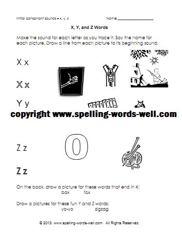 words with z as the second letter free printable phonics worksheets for beginning consonant