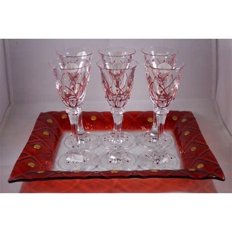 servizio bicchieri servizio bicchieri da liquore in cristallo duilioriccione