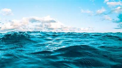 Sea Water Ripples Clouds Background Sky Waves