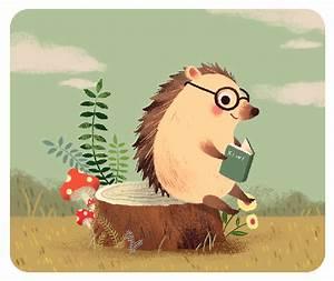 kiwiwublr: hedgehog   Children's Book Illustration ...